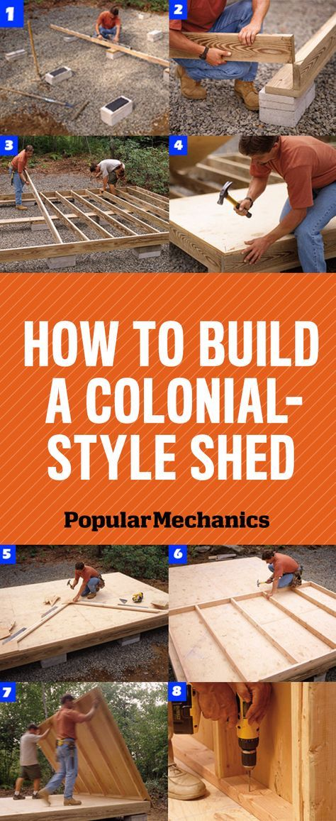 How to Build a Shed, Colonial-Style  - PopularMechanics.com