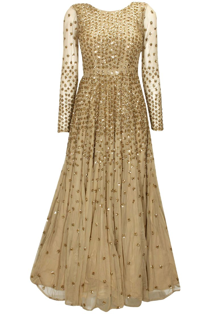 Dark nude sequins embellished gown available only at Pernia's Pop-Up Shop