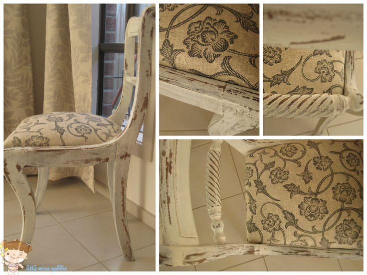 milk paint chair makeover