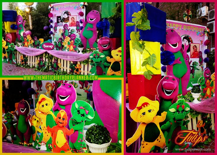 Barney Toddler themed birthday party ideas planner in Lahore Pakistan.  www.thematicbirthdayplanner.com