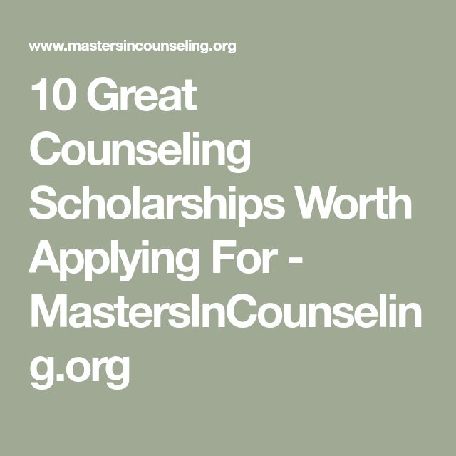 10 Great Counseling Scholarships Worth Applying For ...