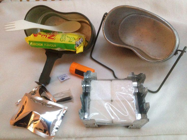 Cooking Kit Using Polish Army Mess Kit Outdoor Life Kit