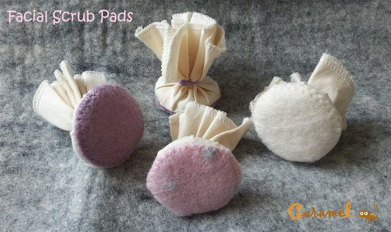 Felted Scrub Pad by CaramelShop on Etsy, $6.30
