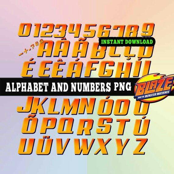 Alphabet Font Blaze And The Monster Machines Letras Cumple