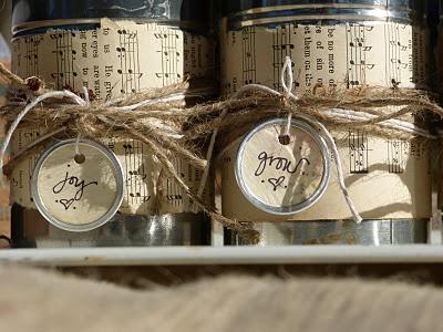 Embellishing using empty cans