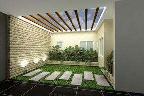 contoh desain taman kecil rumah minimalis modern   desain