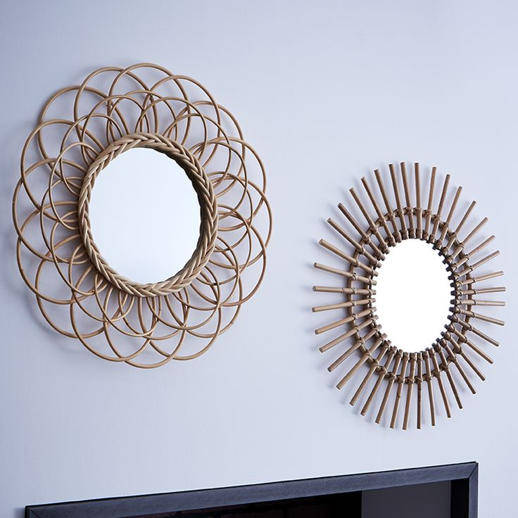 Miroir rotin id e d co zodio miroir for Idee deco zodio