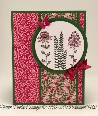 Stampin' Up! Love Blossoms DSP stack & 2016 Saleabration stamp set 'Flowering Blossoms'