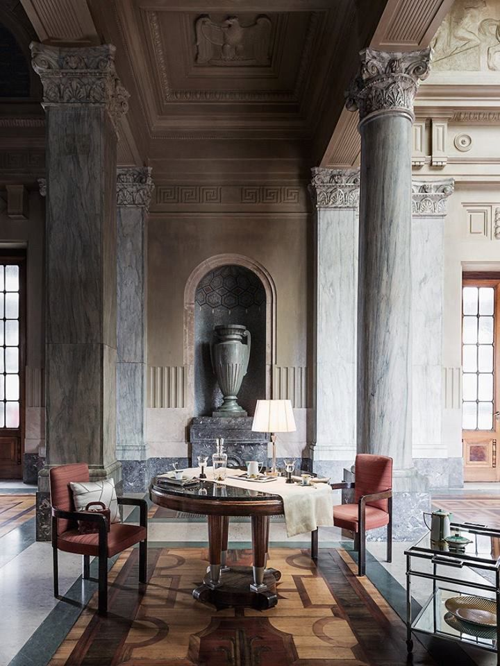 Milan MARIECLAIRE MAISON - Nivenver 2017 - unusual set: Milan Central Railway Station - styling by @Bruno Tarsia - absolutely stunning!