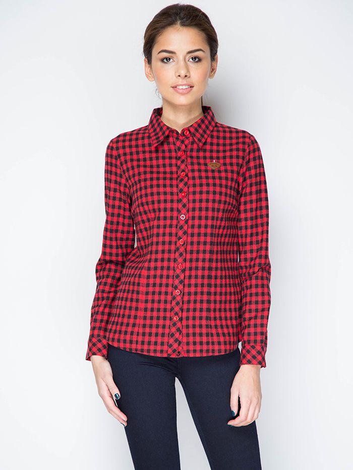 Женские рубашки в клетку   Клетчатые рубашки для девушек