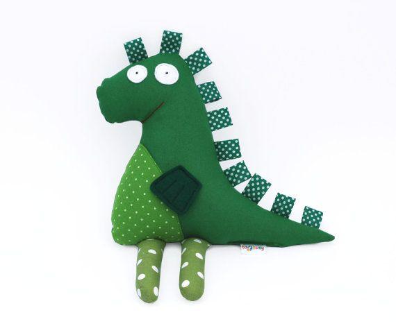 Alegre Dragón Verde. Muñeco de Tela Suave para Niños y Bebés