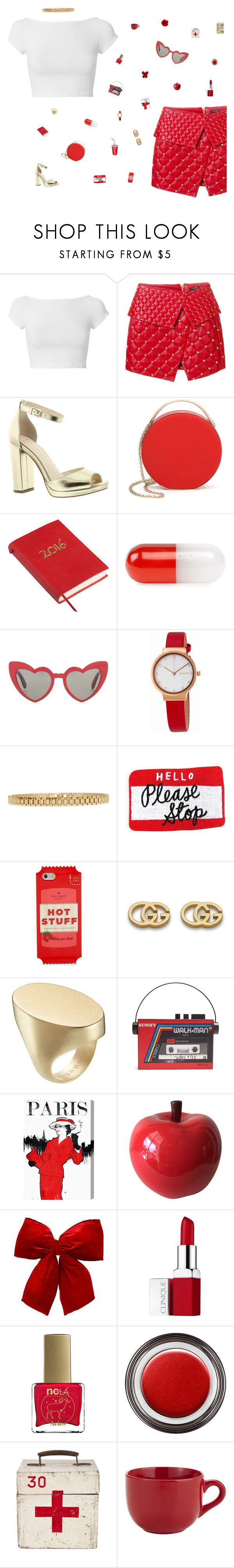 """oh look what you made me do"" by loasanchez ❤ liked on Polyvore featuring Helmut Lang, Balmain, Jessica Simpson, Eddie Borgo, Jonathan Adler, Yves Saint Laurent, Skagen, AMBUSH, Kate Spade and Gucci"