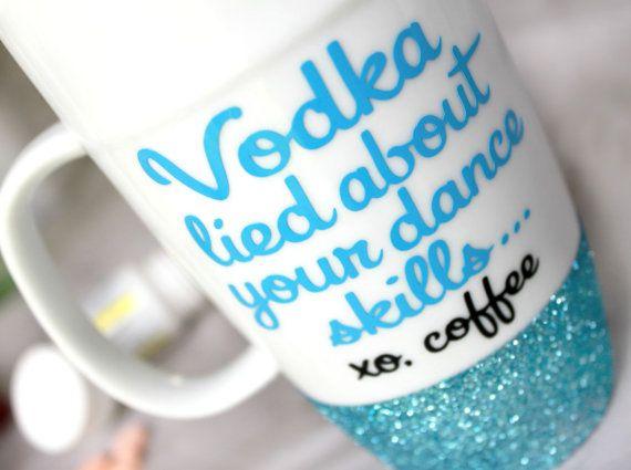 Glitter Coffee Mug Best Friend Mug Best by MonogramRevolution