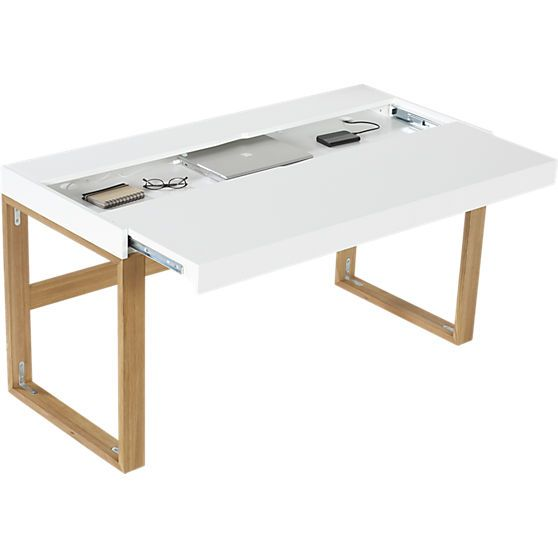 torino desk-table in office furniture | CB2. i want this so bad!!! who wants to buy it for me?!? :)