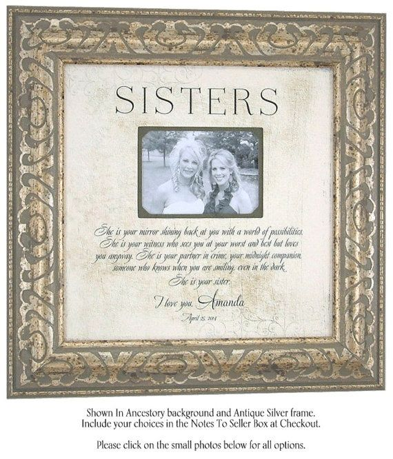 Friendship Picture Frames With Quotes: Personalized Picture Frame, She Is Your Mirror, Sisters