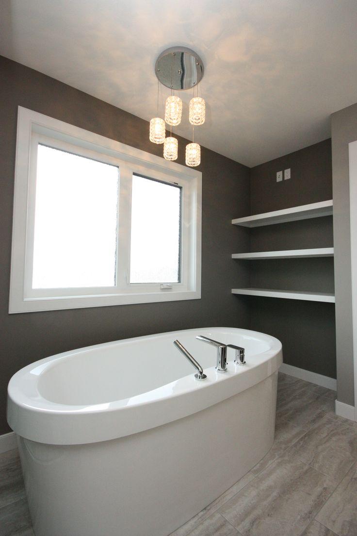 Ensuite bathroom, soaker tub, romantic lighting