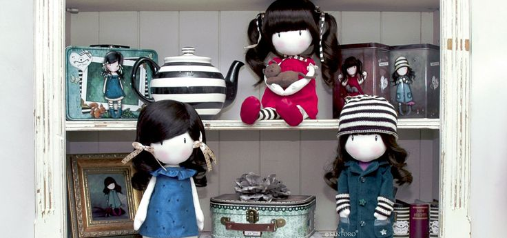 Gorjuss Dolls. Shop the collection here: http://www.santoro-london.com/shop/