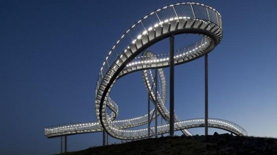 Tiger and Turtle Magic Mountain By German Artist, Ulrich Genth and Heike Mutter. Roller Coaster like Sculpture