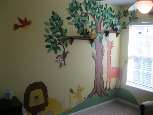 19 best images about nursery mural on pinterest jungle