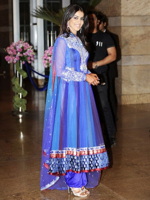 Genelia D'souza in beautiful blue anarkali | Ethnic ...