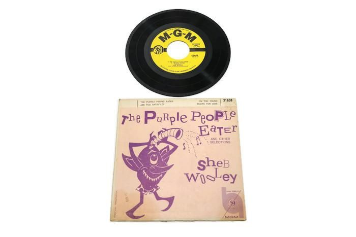 SHEB WOOLEY - Vintage Vinyl Record Album - PURPLE PEOPLE EATER