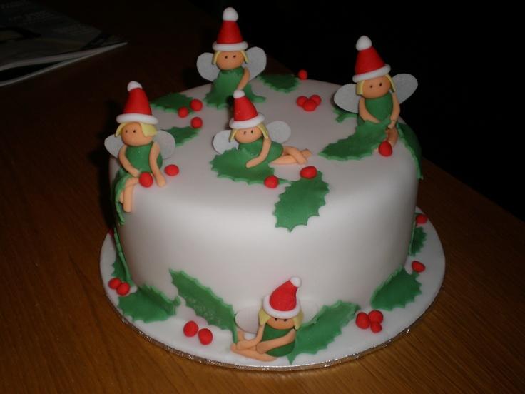 Christmas Fairy cake - I made this christmas fairy cake ...