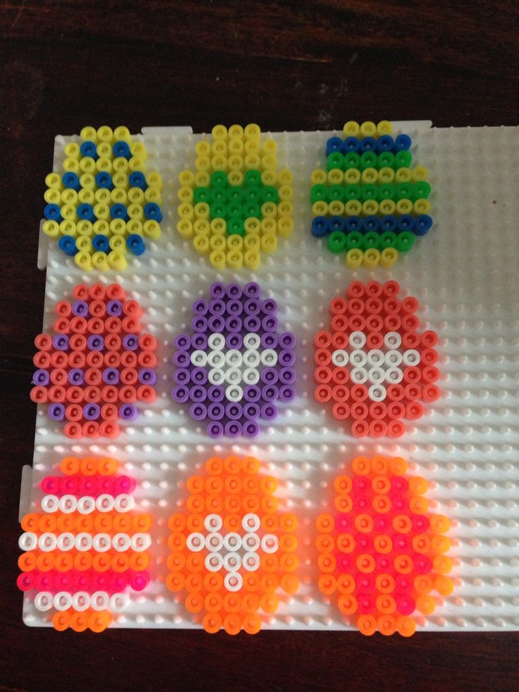 Easter eggs hama perler beads by Dorte Marker