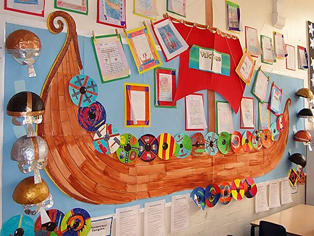 Lady Bay Primary School, Nottingham. Viking display. Y4