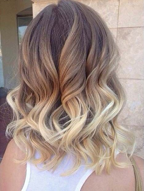 Blonde Ombre Long Bob Hairstyle
