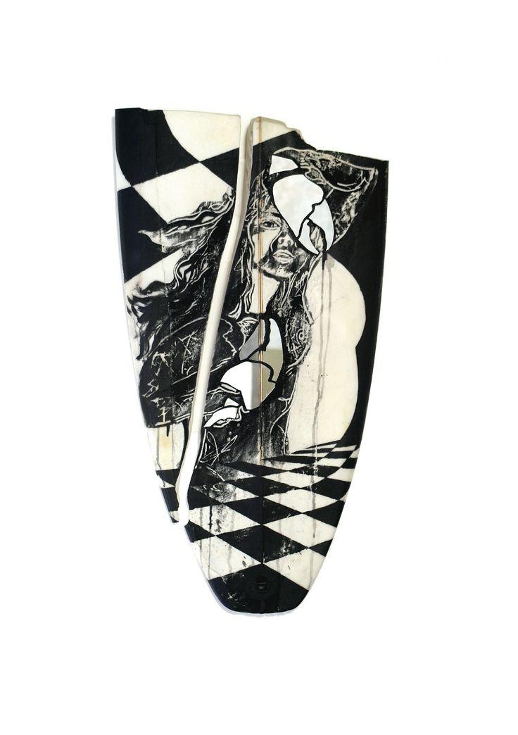 Glass Lass (surfboard sculpture)