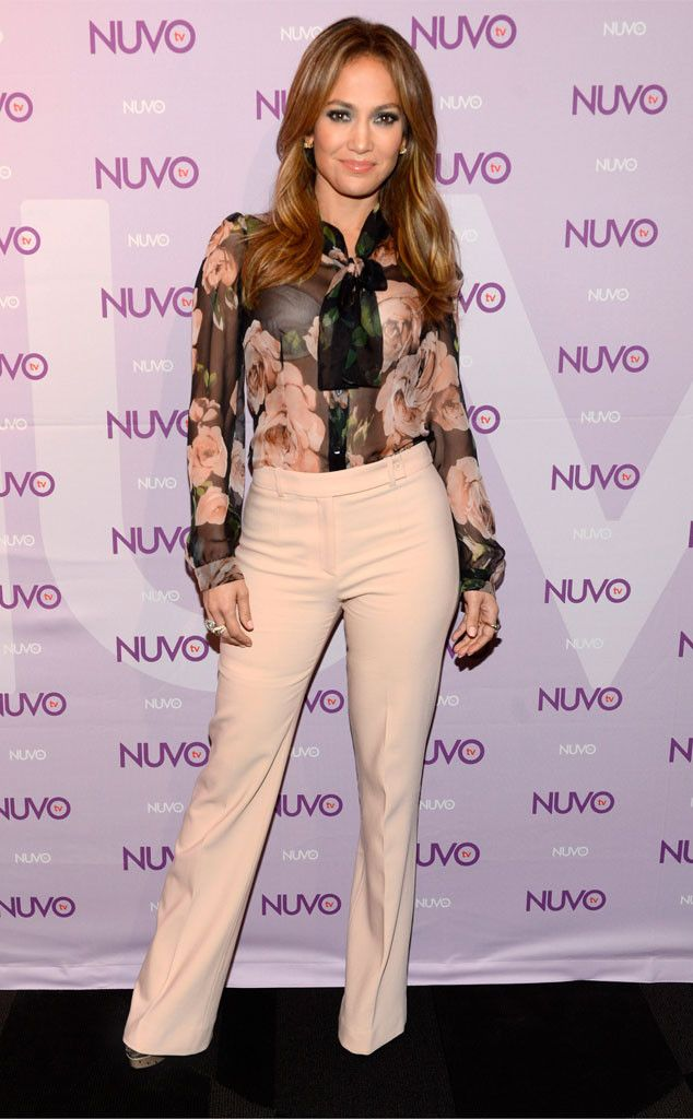 BOSS IN CHARGE Chief Creative Officer of NUVOtv wore a Dolce & Gabbana blouse and beige bottoms to the network's 2013 Upfront Presentation in NYC.