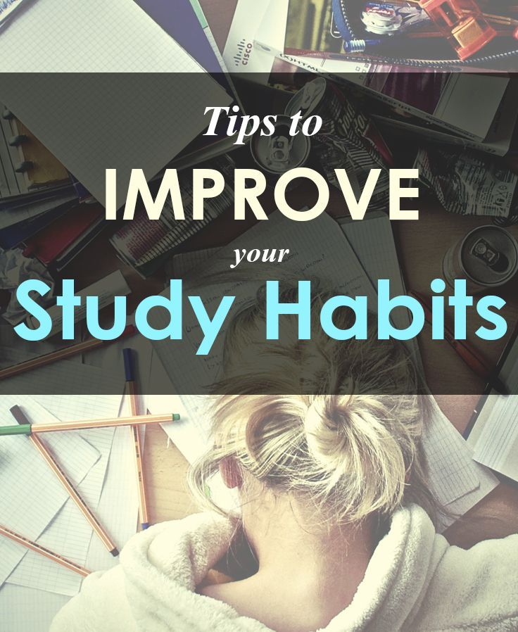 Great tips to improve your study habits. Stop struggling. Study smarter! #college