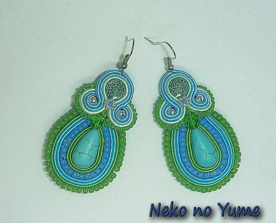 Soutache earrings  Spring