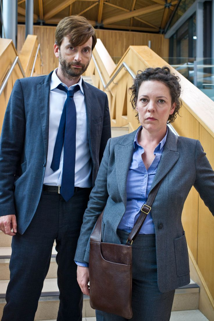 """Hardy and Miller, together again. Broadchurch 2 < FYI both of these people were in Doctor Who. David was, well..... I think we all know & the fabulous Olivia Colman, who was a human vessel for Prisoner Zero in """"The Eleventh Hour"""" with Matt Smith!"""