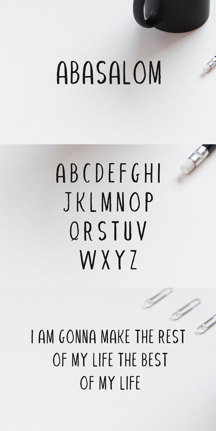 Free Abasalom Handwriting Font Cute Fonts Alphabet Handwriting Fonts Lettering Alphabet
