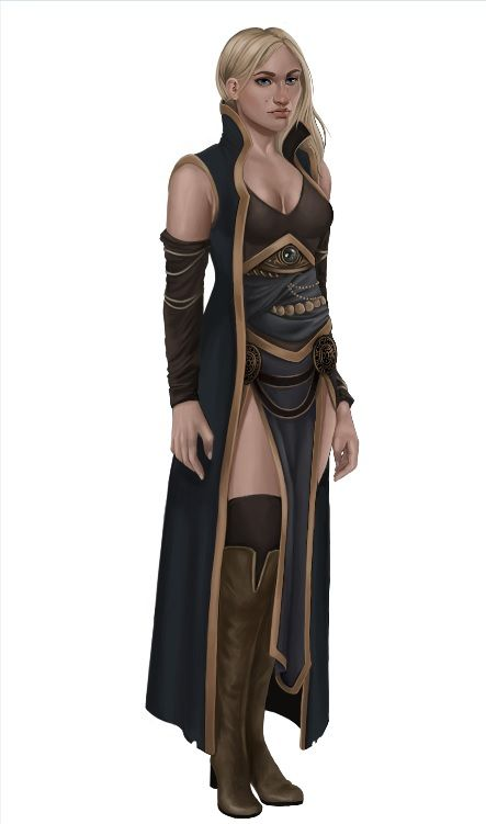 Isleen Ateros, mage, wizard, druid, RPG, D&D, DnD, female character, fantasy, water, fire, earth, dark, light - by druidzia