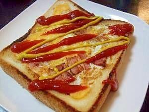 「ベーコンエッグトースト」親戚のおばちゃんちに泊まった翌朝食べさせてもらって、美味しくて感激^^作り方を教わってきました♪【楽天レシピ】