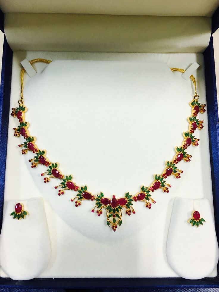 Ruby emerald set