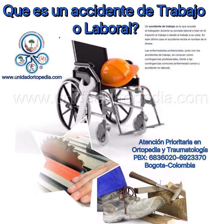 Atención especializada en enfermedades profesionales en Bogotá www.unidadortopedia.com PBX: 6923370