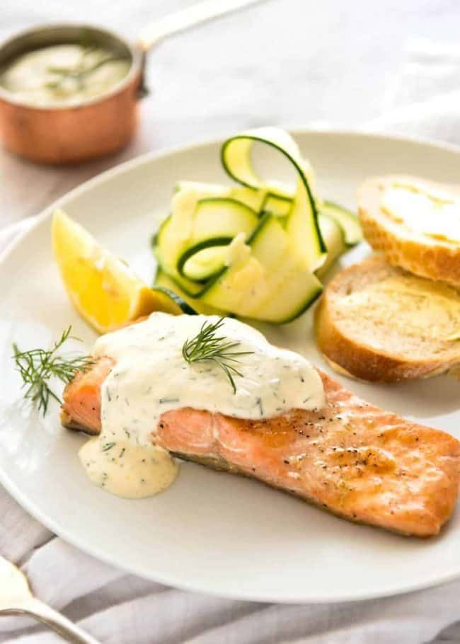 Creamy Dill Sauce For Salmon Or Trout Recipe Sauce For Salmon Dill Sauce For Salmon Creamy Dill Sauce