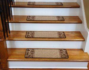 Carpet Stair Treads   Caramel Scroll Border: Everything Else
