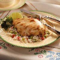 Chicken on Rainbow Rice Recipe