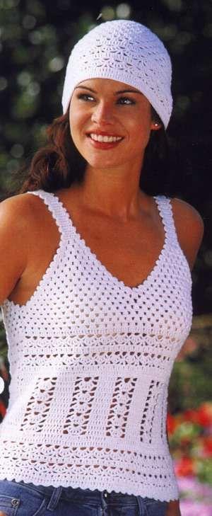 Mandarin Petit - Crochet Summer Top and Hat