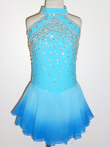 Beautiful Ice Skating Dress Size Girls Large | eBay