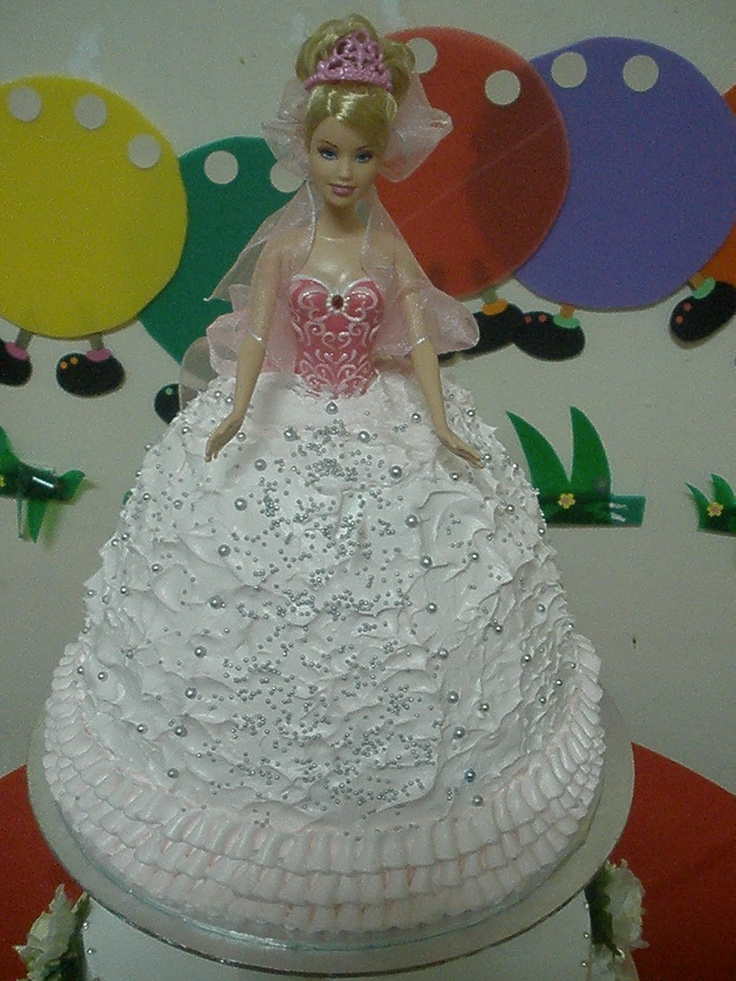Recipe 2 Tier Barbie Doll Cake For Yanru Petit Chef