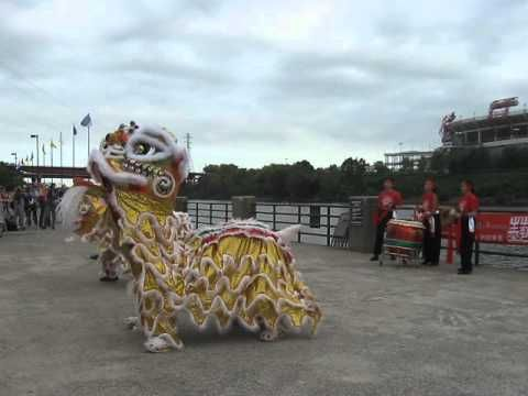 Lion Dancers at Dragon Boat Races, Nashville.  South Africans to participate in 2013 event in September.
