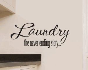 Amazon.com: Laundry the Never Ending Story Vinyl Wall Decal-Decal Color-Copper Metallic: Home & Kitchen