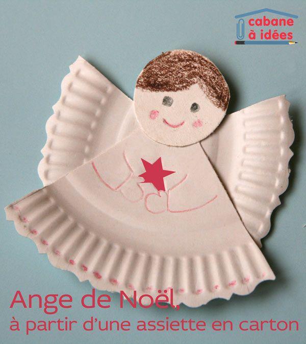 Un ange de Noël à partir d'une assiette en carton