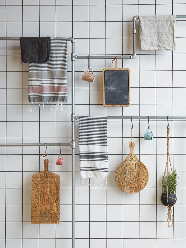 A.U Maison SS17. #aumaison #interior #homedecor #styling #danishdesign #kitchen #teatowel #cuttingboard