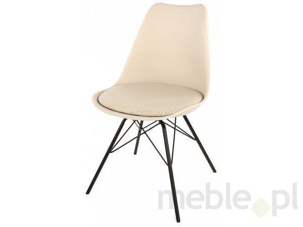 Tenzo Krzesło Gina Ciepło Szare Nogi Porgy Metalowe Czarne - GinaPorgy-Sz-C, Tenzo - Meble